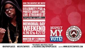 Respect My Vote! Celebrity PSA & Photo Shoot Live Stream