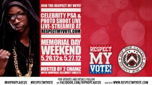 Respect My Vote! Celebrity PSA and Photo Shoot Live-stream