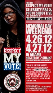 Respect My Vote! Photo and PSA Shoot Live-stream Flyer