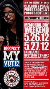 Respect My Vote! PSA and Photo Shoot Livestream Flyer