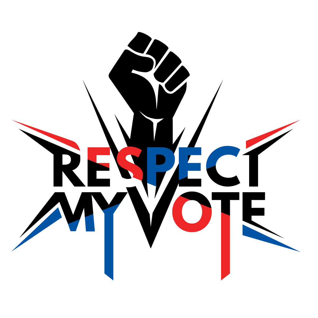 Respect My Vote Logo with Outline
