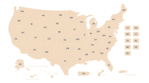 US map of voting information